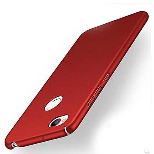 UKDANDANWEI ZTE Nubia Z11 Mini Hülle,extrem schlicht-dünn-Leichte PC Handy Schutzhülle für ZTE Nubia Z11 Mini - weinrot