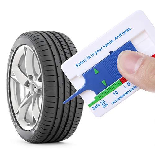 bhty235,Reifen Tiefenmesser,Reifenprofiltiefenmesser Auto Motorrad Anhänger Rad Messwerkzeug Tiefe Messschieber