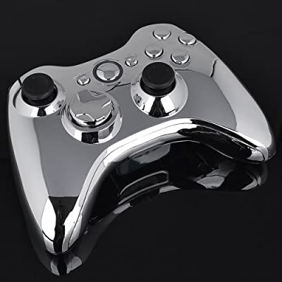 Xbox 360 Wireless Controller - Chrome with Chrome Buttons