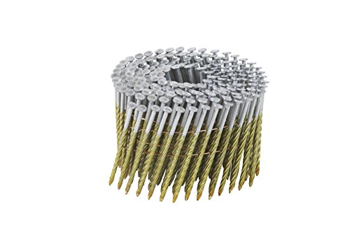 Full Round Head Nails (Hitachi 122341–3/10,2cm X .099SC BS BL CH Full Round Head Brite Basic Draht Coil Einrahmung Nägel (9000Zählen))