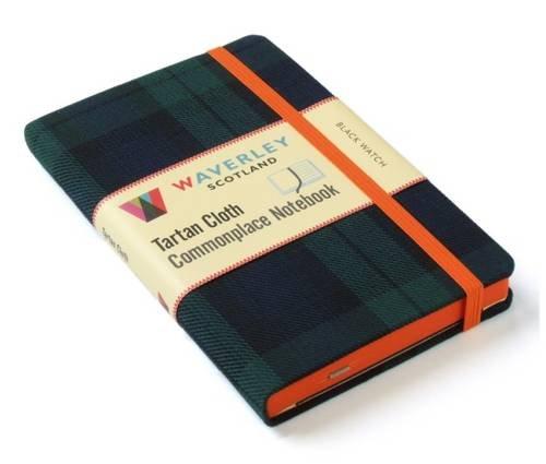 Black Watch: Waverley Genuine Tartan Cloth Commonplace Notebook (9cm x 14cm): Black Watch (Schwarz Plaid Ribbon)