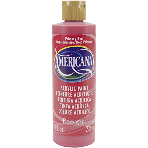 DecoArt Americana Mehrzweck-Acrylfarbe, 59 ml, Primary Rot - Special Effect Pigments