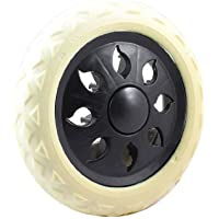 DealMux Negro blanco caliente diseño de las ruedas que viaja el carro del equipaje Ruedas