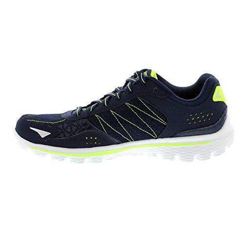 Skechers 2 GO Walk pour Flash Baskets à lacets de chaussures de cours'à pied ultra léger Bleu - Bleu marine