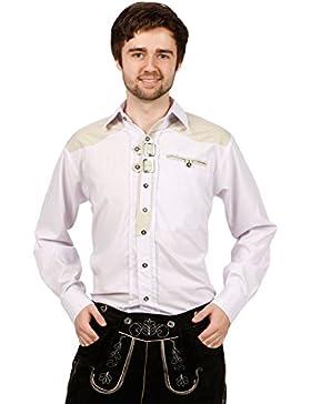 Edles Trachtenhemd, Weiß
