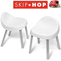 Skip Hop Activity Centre Childs Chairs Sturdy Non Slip Rubber Feet Set 2 x Chairs In White