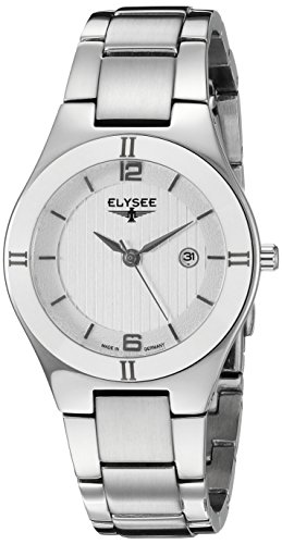 ELYSEE Women's Myra 31mm Steel Bracelet & Case Sapphire Crystal Quartz Silver-Tone Dial Analog Watch 33042