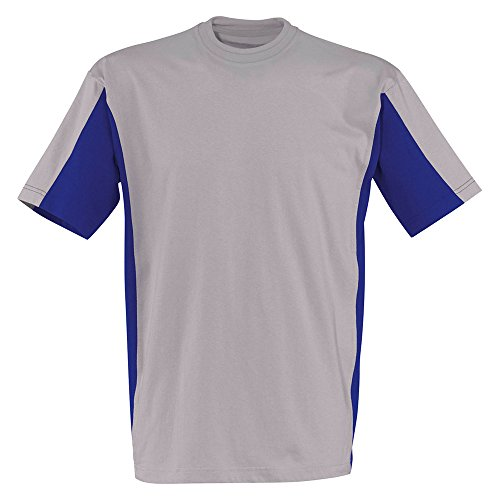 Kübler zweifarbiges T-Shirt 5020 mittelgrau   /   kornblumenblau