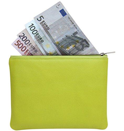 JOSYBAG LEDER Banktasche 'bankbag' - schwarz - Geldbörse Geldkatze Autotasche Grün