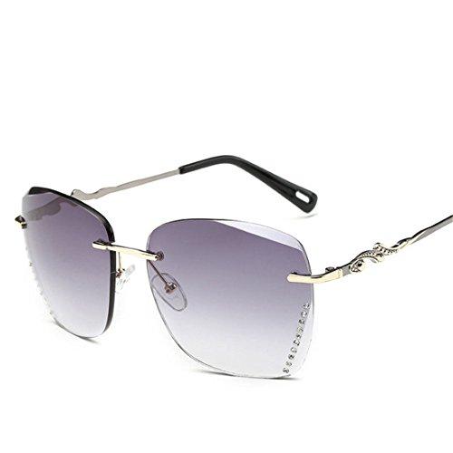 GUO Die Sonnenbrille ohne Rahmen stilvoll und Schneide Sonnenbrille, B