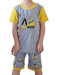 Tkria Niños Ropa Niños Funny Bus Sets Tops + Harem Pantalones Ropa Deportiva Pijamas Nightwear 2pcs Trajes Edad 3 4 5 6 7 Años