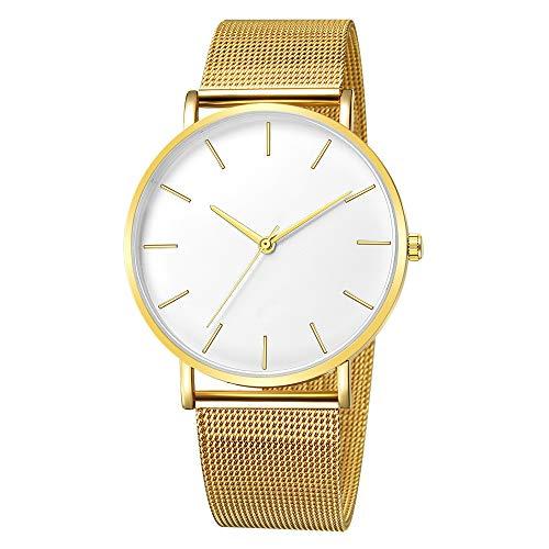 Quartz Uhren für Herren, Skxinn Männer Armbanduhr Zifferblatt Analog Business Minimalistische Quartz Armbanduhren mit Edelstahl Band Ausverkauf(B,One Size) -