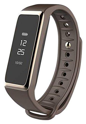 MYKRONOZ Fitnessarmband Uhr Touchscreen IP67 Wasser Resistent BT, Braun, KRZEFIT2
