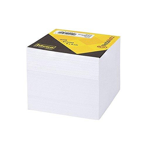 Idena 31.1010 / AA - Notizklotz, 9 x 9 cm, 800 Blatt geleimt, weiß