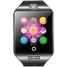 Gazechimp Q18 Montre Connectée Bluetooth GPS Appel Anti-perte Surveillance du Sommeil Bracelet Sport pour Smartphone IOS Android - Noir