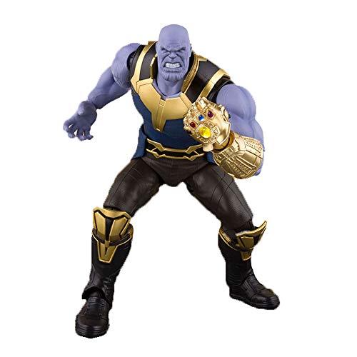 MEI XU Los Vengadores 3 Personajes de la Guerra Infinita Thanos Movió Muñeca Modelo de Mano Muñeca Niños Modelo de Juguete Curioso Alrededor de 16 cm de Alto Modelo De Juego
