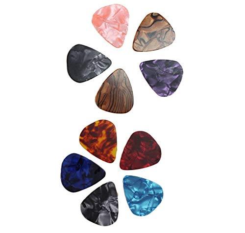 Li-ly 20 farblich sortierte Gitarre Plektren für Bassgitarre mit 0,71 mm, 0,46 mm, langlebig und praktisch