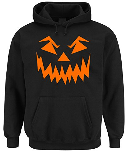 Halloween Face Hooded-Sweater Black Certified (Blogger Fashion Halloween Kostüme)