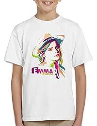 Geometric Celebrity Emma Watson Kid's T-Shirt