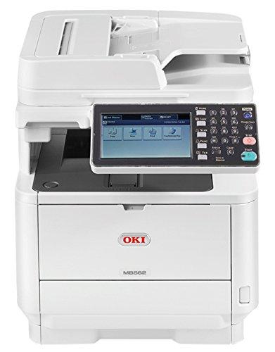 Stampante Multifunzione OKI MB562dnw a Tecnologia LED, 4 in 1, Monocromatica, A4, Fronte/ Retro, Wireless, 45 Pagine al Minuto, Spina EU