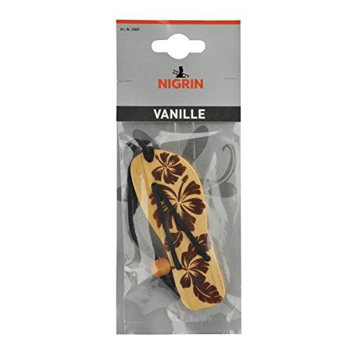 NIGRIN 20009 Holzlufterfrischer Flip Flop, Vanille
