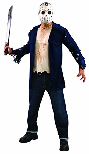 Freitag Voorhees Kostüm 13 Jason Der - Rubie's Freitag der 13. Jason Voorhees Deluxe Kostüm für Herren, Größe:M/L