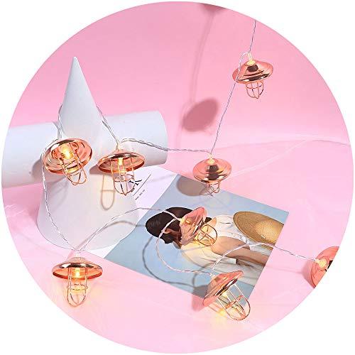 VNEIRW 1.5M 10er LED Lichterkett,Batteriebetrieben Romantisch Hohl Diamant Form Leuchtioden Dekor Lichter,Weihnachtsbaum Zubehör,Zimmer Dekoration (B)