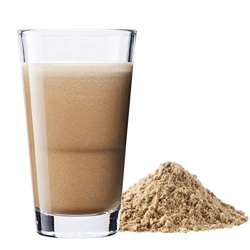 Vegan Protein (Haselnuss) - Protein aus Reis, Hanfsamen, Lupinen, Erbsen, Chia-Samen, Leinsamen, Amaranth, Sonnenblumen- und Kürbiskernen - 600 Gramm Pulver mit natürlichem Haselnuss Geschmack - 3