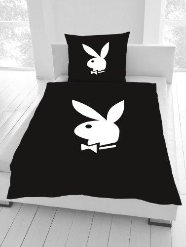 ropa-de-cama-135-x-200-cm-de-conejo-playboy-classic-negro-nuevo-wow