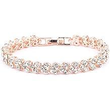 VJGOAL Damen Armband, Frauen Mädchen Geschenk der Frau Valentinsgrußes Mode IM Römischen Stil Kristall Diamant Armbänder Geschenke