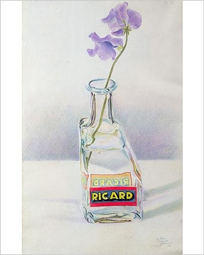 photographic-print-of-ricard-bottle-1981-coloured-pencil-on-paper