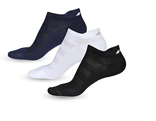 Nivia 8801 Low Cut Cotton Sports Socks, Free Size Pack of 3 (Multicolour/Same Color Dependinng on Availability)
