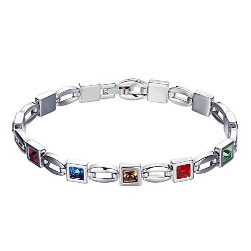 H.l bracciale di cristallo delle donne con swarovski elements gioielli regalo di compleanno per lei