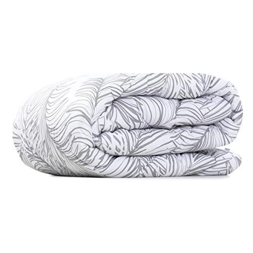 AmeliaHome Bettdecke, Weiß Grau, 155x220 cm