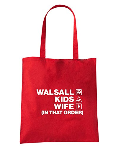 T-Shirtshock - Borsa Shopping WC1250 walsall-kids-wife-order-tshirt design Rosso