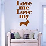 guijiumai Vinyl Wandtattoo Love Me niedlichen Haustier Welpen Tier Interieur Papel De Parede para...