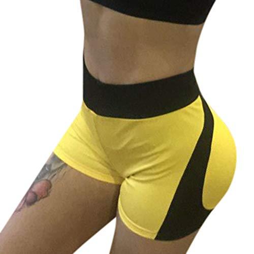 Epig Frauen Neue Art-Yoga-Hosen-Feste beiläufige dünne Spleiß-Sport-reizvolle Kurze Hosen Plaid Cropped Pants