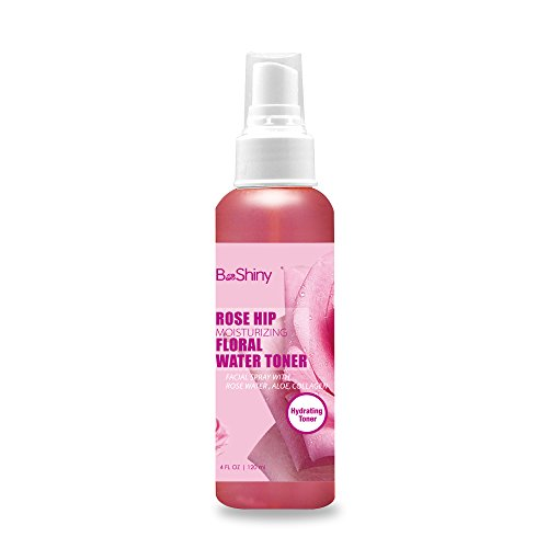 Hagebutte Moisturizing Blumenwasser 120ml Gesichtswasser Spray .Toner für Gesicht Mitesser Fights & reduziert Porengröße , Dringt tief Akne an der Quelle zu bekämpfen -