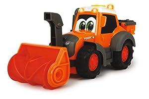 Dickie Toys 203814014 Happy Fendt Snow Patrol - Coches de Juguete para niños a Partir de 1 año (Coche de Obras, Vuelo de Nieve, Coches de Juguete, luz y Sonido), Color Naranja