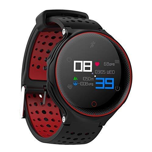 Cacoffay Sport Smartwatch Wasserdicht Pulsmesser, Fitness Tracker, Schrittzähler, Schlaf-Monitor,Setz-Alarm, Stoppuhr, SMS-Anruf Benachrichtigung Push/Kamera, für Android und iOS,Red