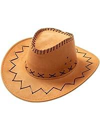 1109a5a4ded22 ZBHQTDZ Verano Sombreros para el Sol para Mujer Sombrero de Paja Vaquero  Occidental Plegable Caballero Sombrero
