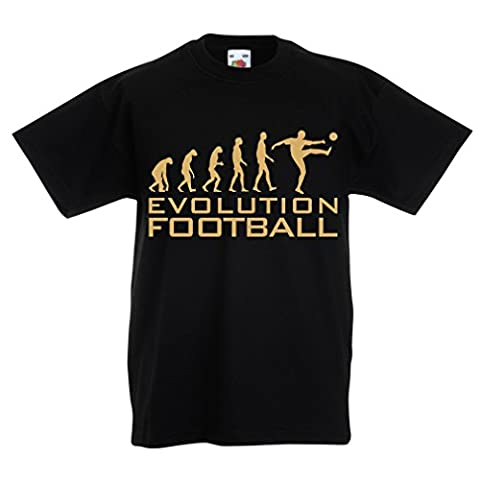 T-shirt pour enfants The Evolution Football (12-13 years Noir Or)