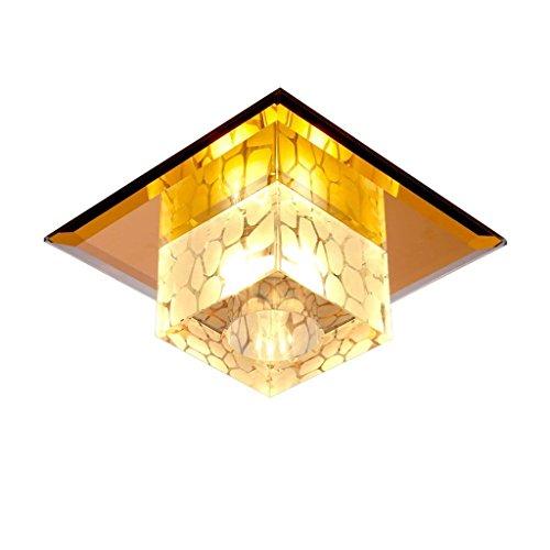 DEE Kronleuchter-Spiegel Crystal Ceiling Einfache Moderne Runde Deckenleuchte Embedded LED-Decken-Pendelleuchte Corridor Balkon Wohnzimmer Dekoriert DeckenleuchteWarm White Light,Oberflächenmontage (Oberflächenmontage 2-licht Für)