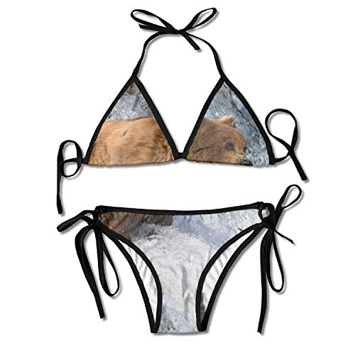 Sexy Triangle Bathing Two Pieces Coconut Palm Trees and Pineapples Bikini Women's Summer Swimwear Triangle Top Bikinis Swimsuit Sexy 2-Piece Set -