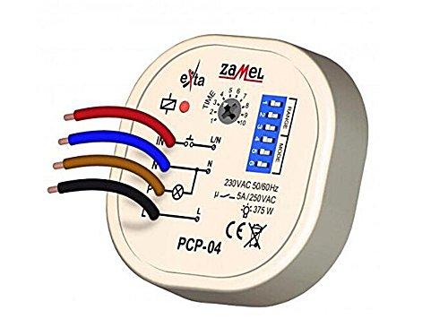 Zamel PCP-04 Zeitrelais Multifunktionsrelais für Unterputz Dosen Zeitschalter 8 Verschiedene Funktionen Zeitsteuerung Zeitschaltung Impulsrelais -