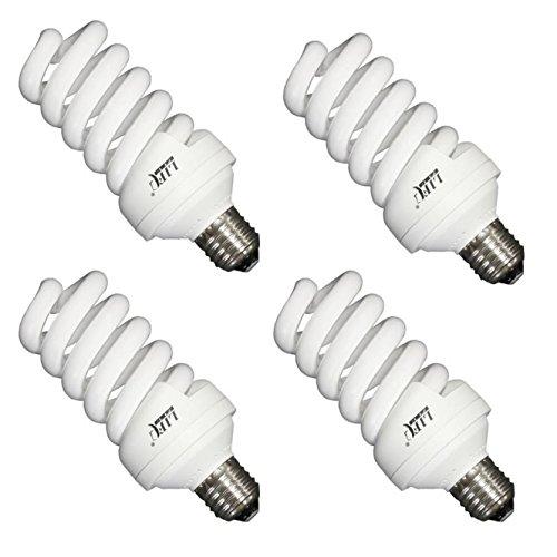 Life of Photo 4X Leuchtmittel Tageslicht-Lampe 30 Watt 5500ºK Fotolampe