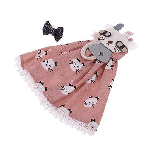 ee12807de773 Baoblaze Lovely Pink Kitty Design Long Skirt and Hairpin for 1 6 Blythe  Doll Dress