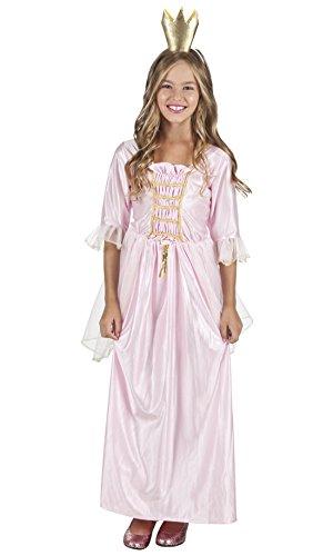 chen Fashion Prinzessinnenkostüm mit Rüschen , Rosa, Größe 140-152, 10-12 Jahre (Disney Schneewittchen Kostüm Kleinkind)
