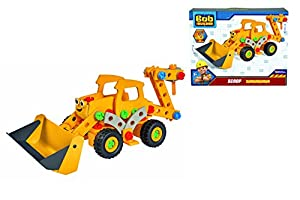 Eichhorn 109325105-Bob el Constructor Constructor-(Excavadora baggi/Scoop, 142Piezas, FSC 100%, Fabricado en Alemania, a Partir de 5años