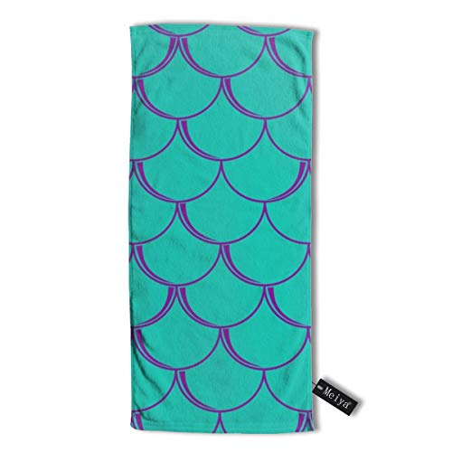 Pillowcase Wholesale Mermaids Teal Multi-Purpose Microfiber Towel Ultra Compact Super Absorbent and Fast Drying Sports Towel Travel Towel Beach Towel. - Athletic Striped Wrap